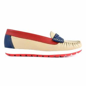20f71e50aef4 Mocasín Goma Mujer Cuero Premium Zapato Chatita Mcmo03587