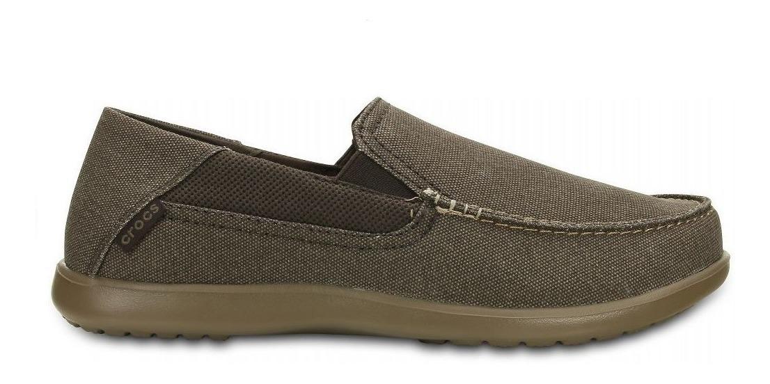 buscar genuino calidad primero muy agradable Mocasin Hombre Crocs Tela Goma Confort Marron - Hcal00724