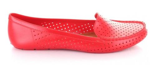mocasin para mujer redberry novo-049131 color rojo