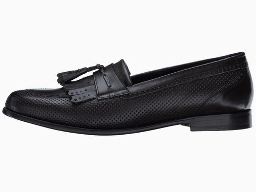 mocasín román negro tallas extra grandes marca messico