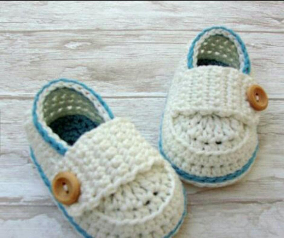 Dorable Mocasines De Bebé Patrón De Crochet Libre Friso - Manta de ...