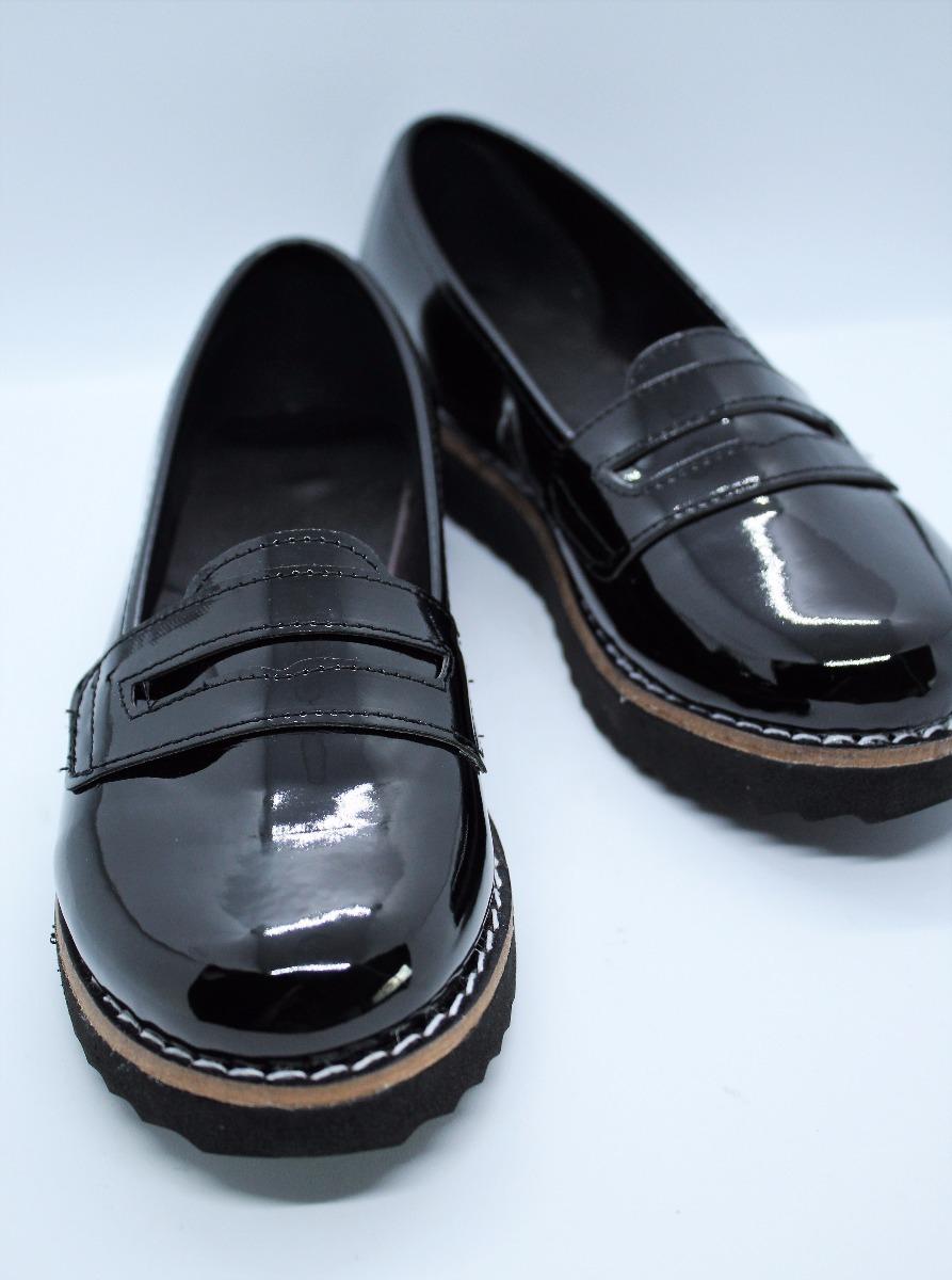 03da8ffe40 mocasín zapato charol mujer otoño invierno 2018. Cargando zoom.
