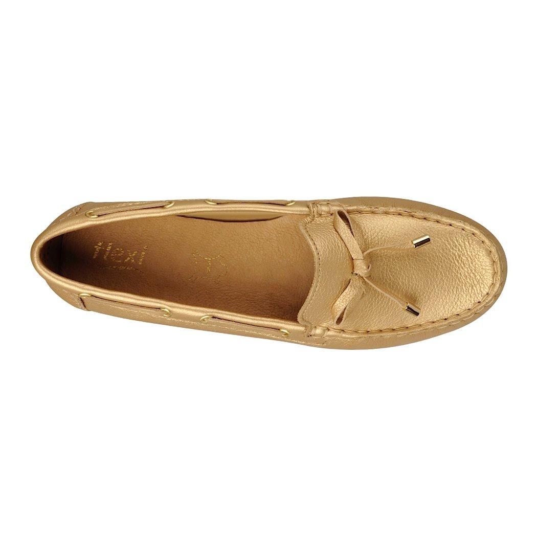 0feb1901 Mocasines Casuales Flexi Para Mujer Piel Oro 32201 - $ 399.00 en ...