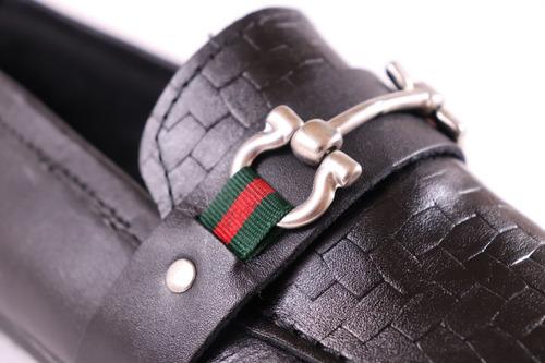 mocasines de piel negra originales para hombre lv
