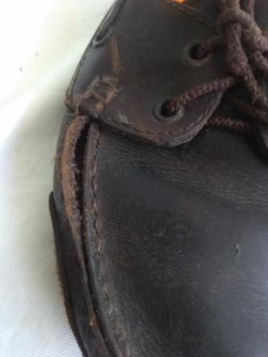 mocasines marrones para salir de apuros pequeño descose