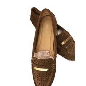 9067fca47a89a Zapatos Para Dama Michael Kors Café Dorado - Envío Incluido