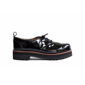 3f87bd2a71ee1 Mocasines Charol Mujer Acordonados Azules - Zapatos en Mercado Libre ...