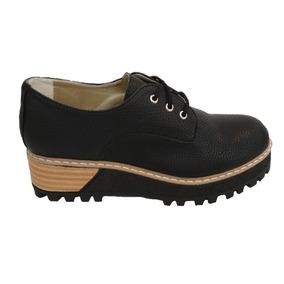 d3e1d6dc Mocasines De Mujer Con Plataformas Con Cordones - Zapatos de Mujer ...
