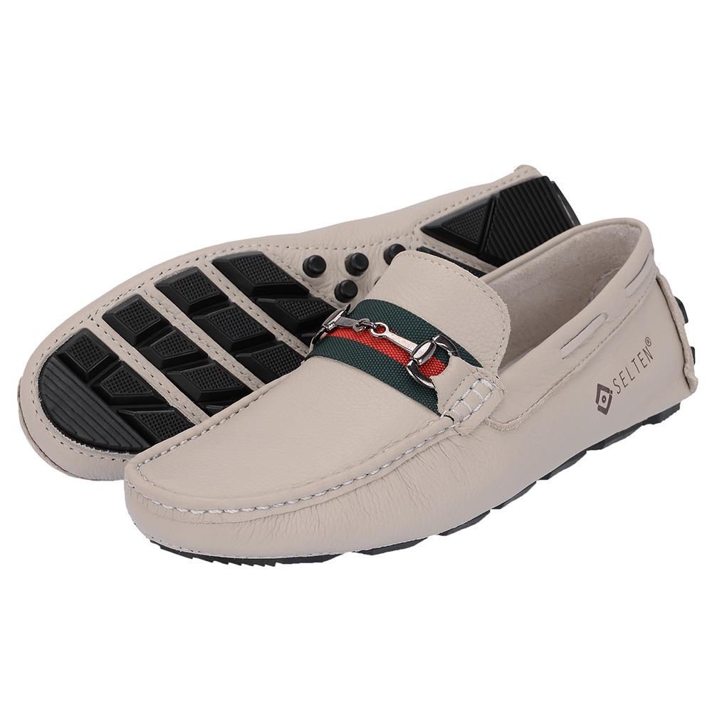 a7761c53e1 ... f9924f6841 mocassim branco couro legitimo sapato estilo gucci selten  l7. Carregando zoom.