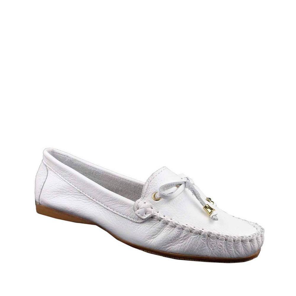 ce1f4a4f5 Mocassim Branco Tradicional Mel Benett - R$ 144,90 em Mercado Livre