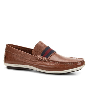 68f8b02bb6 Mocassim Masculino Café De Couro Shoestock - Calçados
