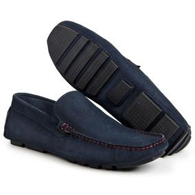 a9036719df Sapato Camurça Azul Marinho Masculino Mocassins - Sapatos Sociais e ...