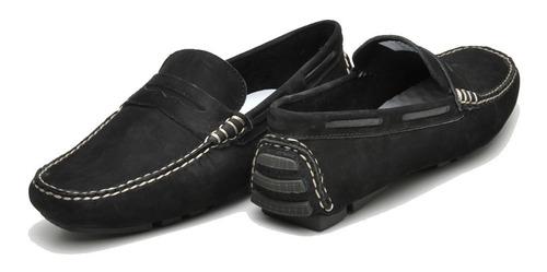 mocassim drive penny loafer masculino rasz nobuck :