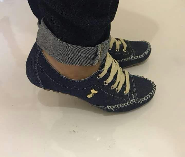81bf45442a Mocassim Estilo Tênis Mocatênis Jeans 600 - R  75