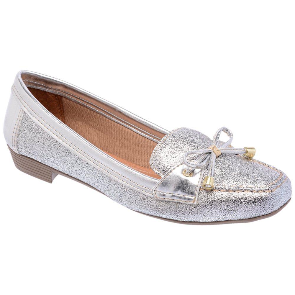 009de05553 mocassim feminino metalizado laço prata di scarp. Carregando zoom.
