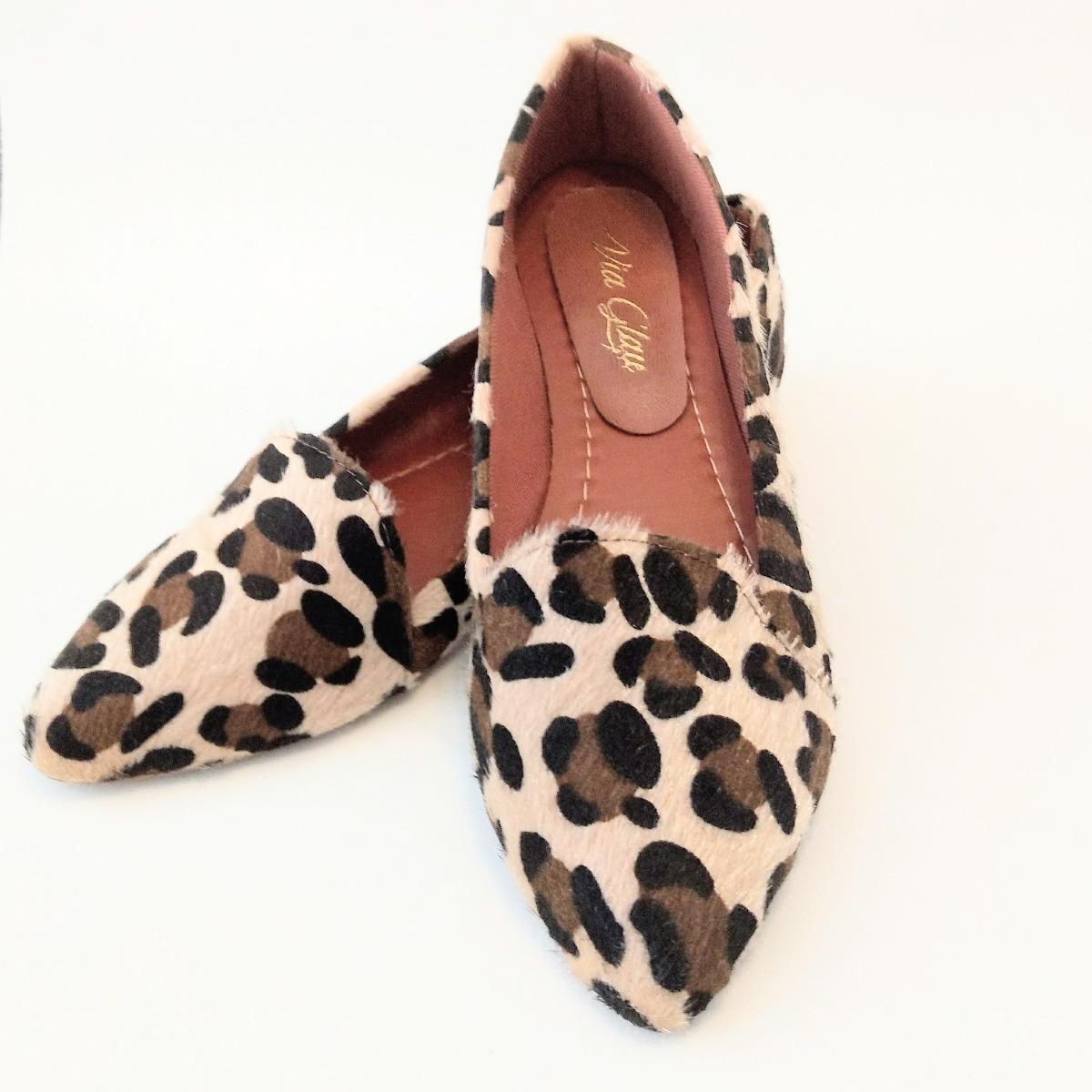 a726e86aca mocassim feminino onça sapatilha sapato social confortável. Carregando zoom.