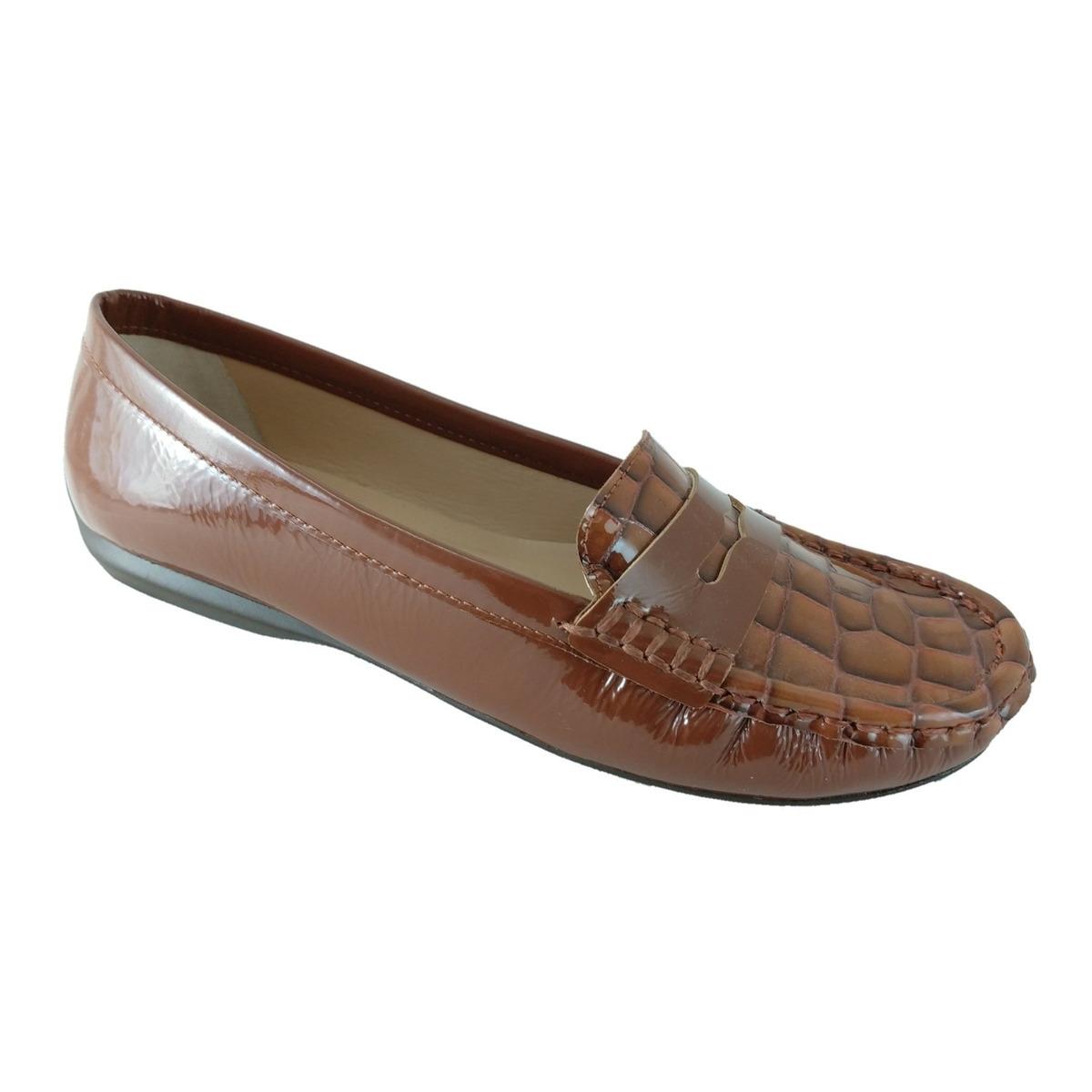 bef103910 Mocassim Feminino Sapatoweb Couro Marrom - R$ 94,90 em Mercado Livre