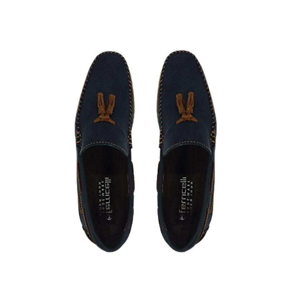 88533453df mocassim masculino ferricelli jimny azul couro 008947. Carregando zoom.