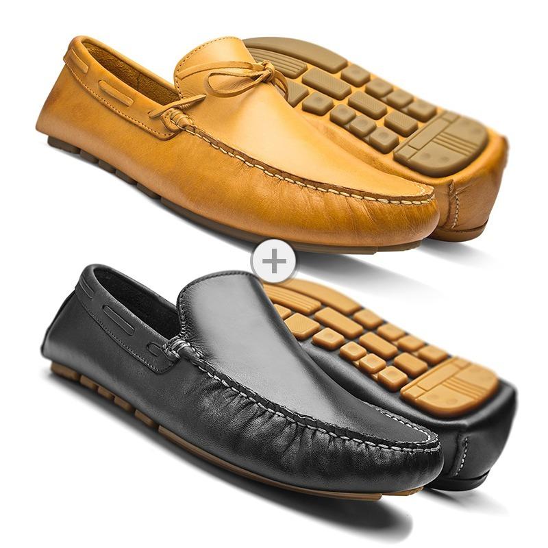 18dbf3be22 mocassim masculino sapato casual kit 2 pares couro legítimo. Carregando zoom .