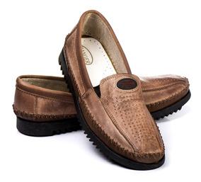 6d24ea085 Sapatilha Masculina Couro Legítimo - Sapatos com o Melhores Preços no  Mercado Livre Brasil