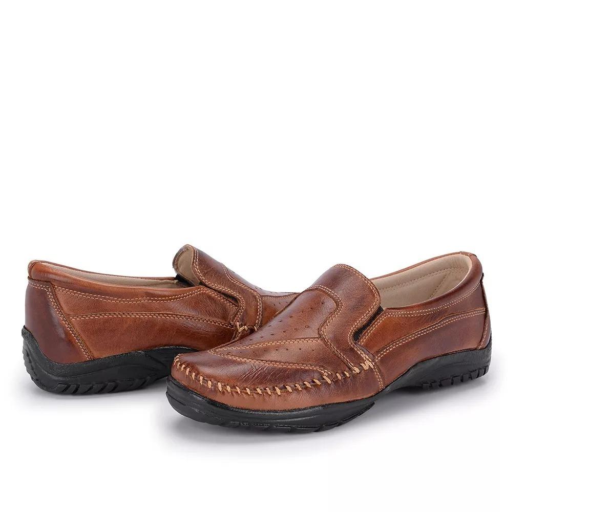 8178e3c429 mocassim sider sapatilha slip masculino 100% couro marrom. Carregando zoom.
