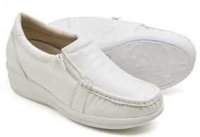 f010c67d68 Sapato Branco Enfermagem Usaflex Feminino - Sapatos no Mercado Livre ...