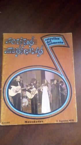 mocedades en portada de revista notitas musicales año-1975