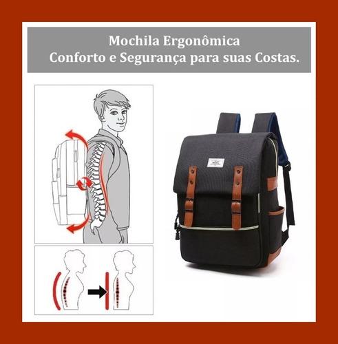 mochila 25l executiva para notebook masculina e feminina