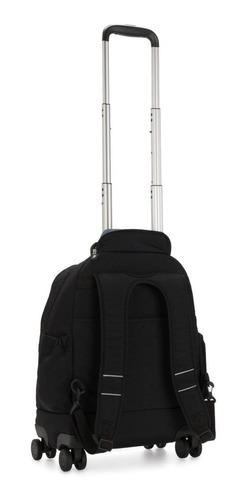 mochila 4 rodinhas com alças de costas zea kipling preta