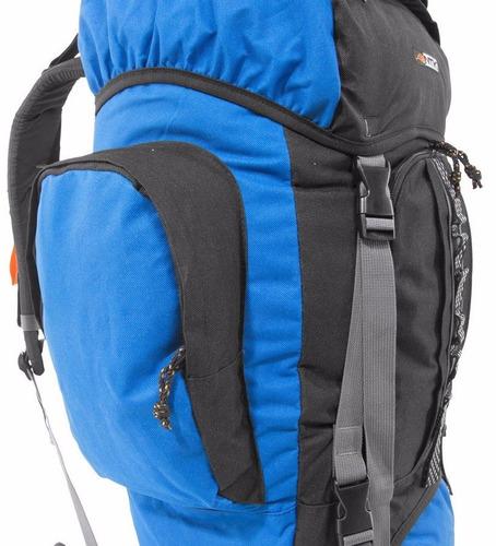 mochila 80 litros intruder nautika camping preta e azul
