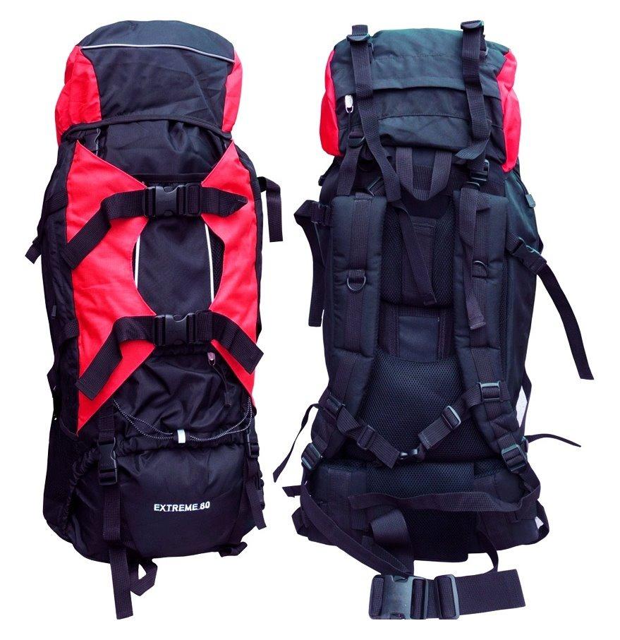Mochila 80 Lts Varillas Aluminio Camping Trekking C/cobertor ...