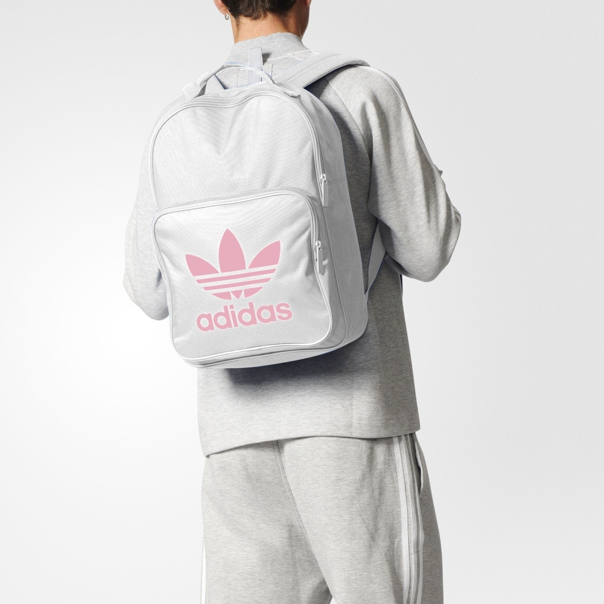 Blanca Classic Nueva Adidas Bp Trefoil Mochila 45Lj3AR