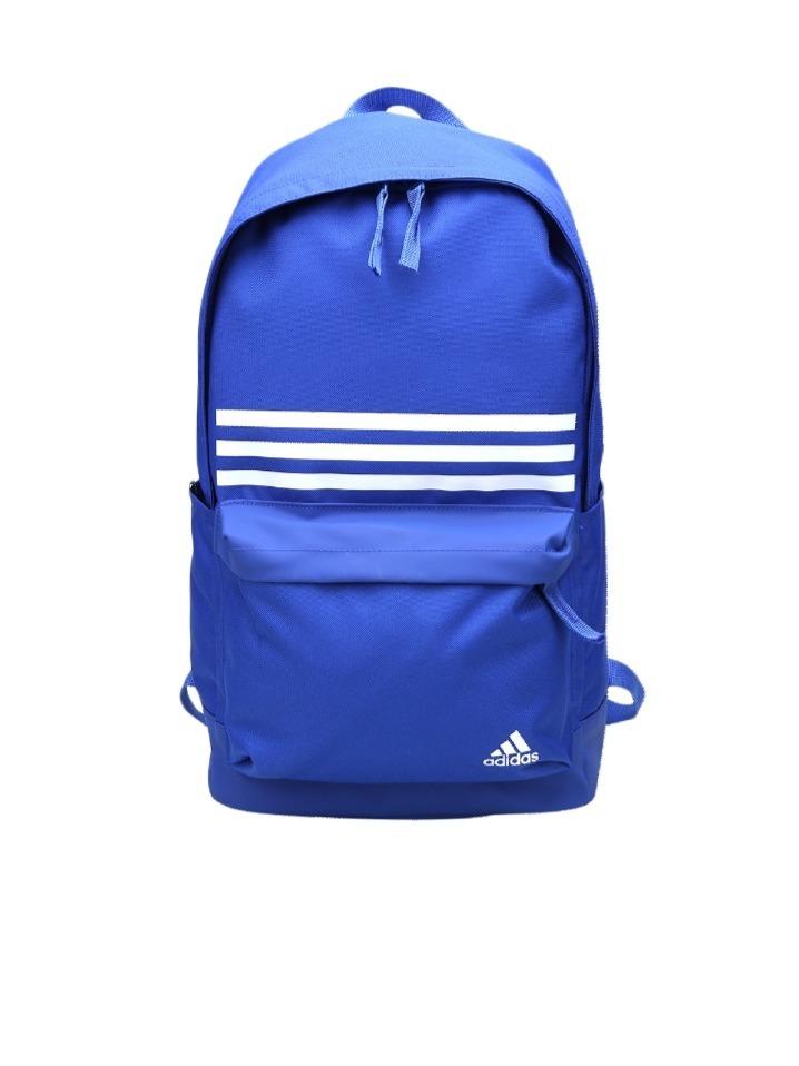 80bb7404b mochila adidas clas back pack 3 stripes - azul original. Carregando zoom.