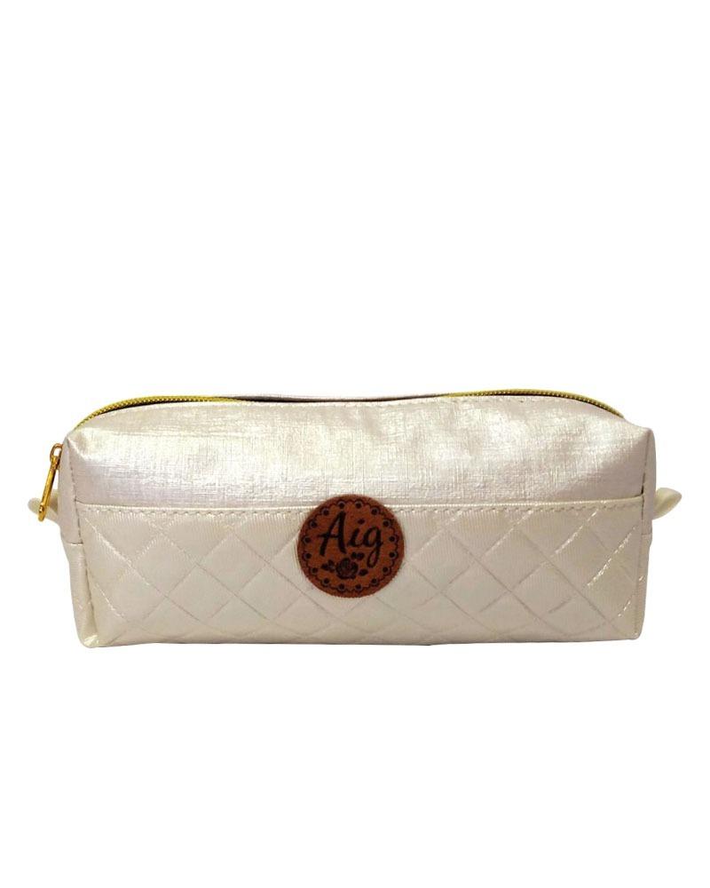 aa10df0d6 Carregando zoom... kit bag mochila alça feminina + estojo matelasse branco  aig