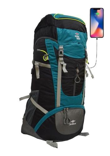 mochila alpine skate mochilero 70 + 10 litros camping usb