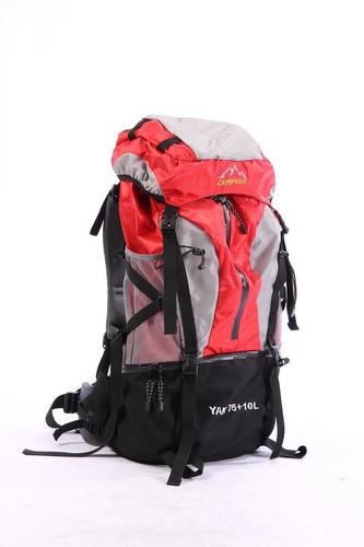 mochila alta montaña 75 +10 lts trekking - outdoor - campin