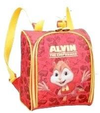 mochila alvin e os esquilos com lancheira e pote kit