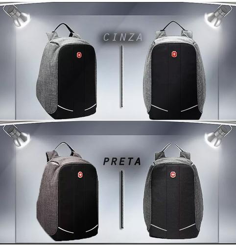 mochila anti furto para notebook impermeável com usb nova