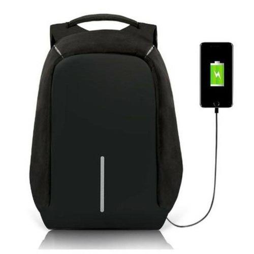 mochila anti furto roubo laptop cabo usb postagem imediata