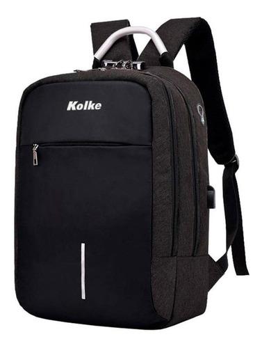 mochila anti robo kolke con candado y manilla de aluminio az