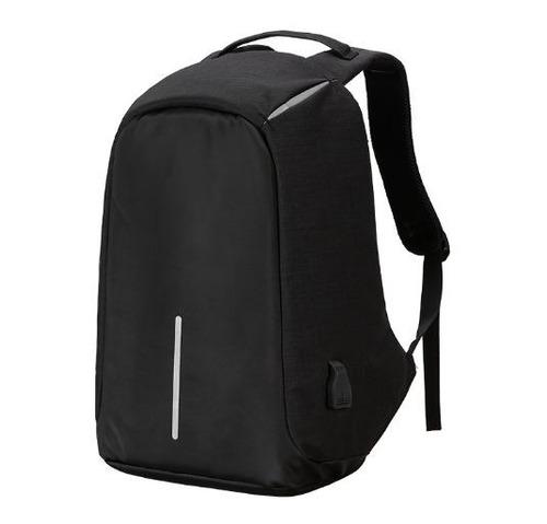 mochila antirobo color negro/gris/azul