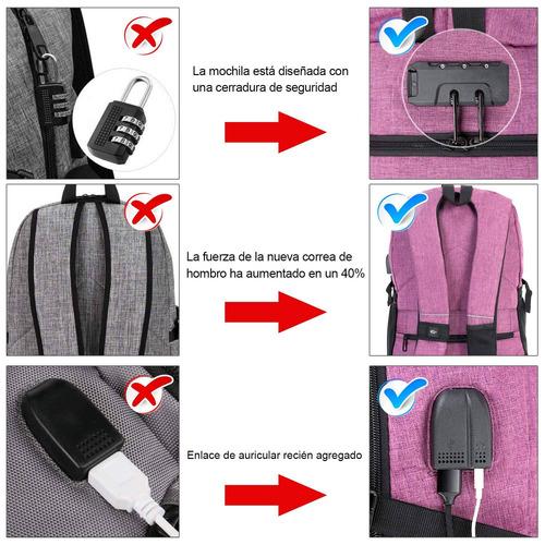 mochila antirrobo 2019, mochila de 30 litros con usb carga u