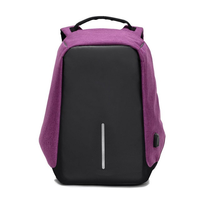 Mochila Antirrobo Color Purpura!!!! - S/ 100,00 en Mercado Libre