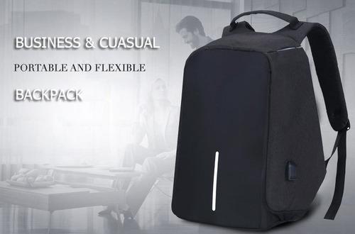 mochila antirrobo con puerto usb de carga, maleta antirrobo