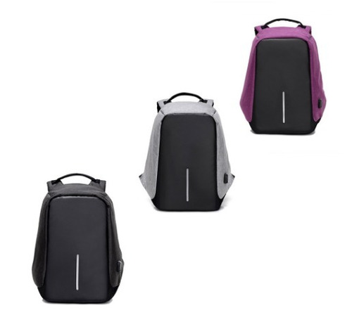 mochila antirrobo con puerto usb resistente al agua laptop