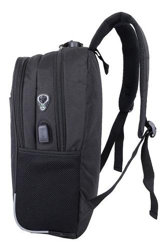 mochila antirrobo con usb impermeable entrega inmediata