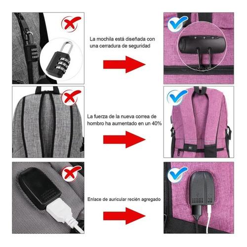 mochila antirrobo impermeable multifunción, mochila 30l con