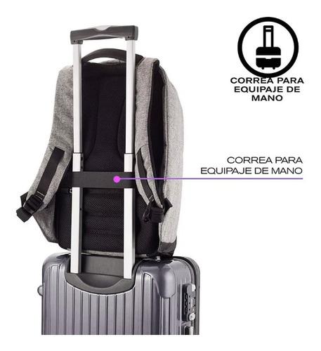 mochila antirrobo impermeable puerto cargador usb