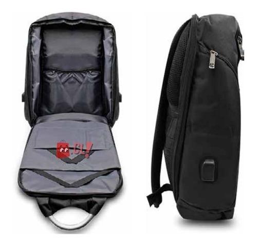 mochila antirrobo impermeable usb puntostore g646