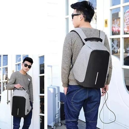 mochila antirrobo inteligente impermeable con usb - notebook
